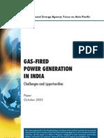 IEA-Gas Based Power_india