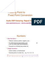 Fixed Point Conversion