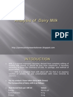 Analysis of Dairy Milk