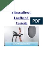Fitnessdirect Laufband - Die Vorteile