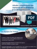 Principales actitudes y disposiciones que facilitan la comprensión de los problemas de trabajo en las organizaciones