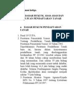 Dasar Hukum, Asas-Asas & Tujuan Pendaftaran Tanah (Kul 3)