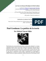 Paul Goodman, La poética de la teoría, por Michael Vincent Miller