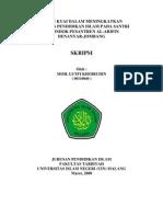 PERAN KYAI DALAM MENINGKATKAN KUALITAS PENDIDIKAN ISLAM PADA SANTRI DI PONDOK PESANTREN AL-ARIFIN DENANYAR-JOMBANG