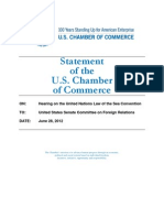 Tom Donohue's Testimony Supporting the Law of the Sea Treaty -- 06/28/2012