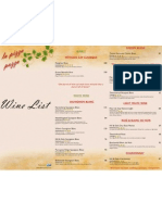 La Pizza Pazza Wine List