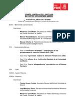 Programa Jornada sobre política sanitaria del Partido Socialista de Madrid.