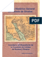 Inventario Expediente Comision Limites Sonora Sinaloa