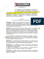 Constitucion Politica Colombia 1991 Actualizada
