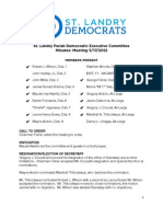 St. Landry Democrats Minutes