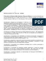 Resolução SEMA 054-2006
