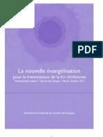La nouvelle évangélisation pour la transmission de la foi chrétienne