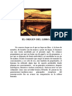 El Origen Del Libro.