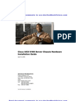 Cisco UCS 5108 Server Chassis Hardware Installation Guide