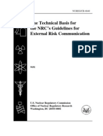 The Technical Basis forthe NRC's Guidelines forExternal Risk Communication