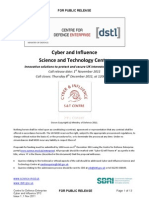 DSTL - Cyber & Influence - Electronic Warfare 20111101 CI STC CDE Call Document FINAL