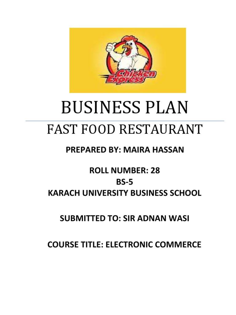 restaurant business plans samples