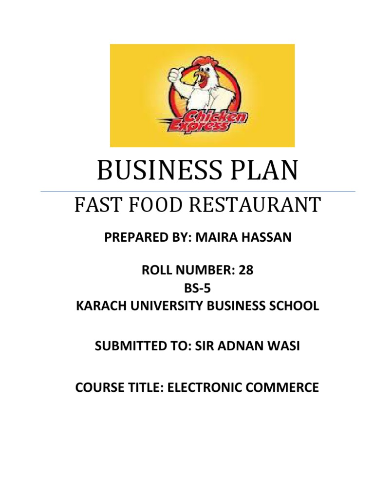 Fast Food Restaurant Business Plan Fast Food Fast Food Restaurants - Fast food business plan template