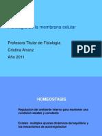 Clase Teorica No 1 Membrana. Prof.C.arranz