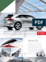 Brochure toyota Venza 2009