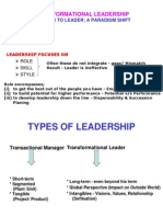 Transformational Leadership(St.xaviers)