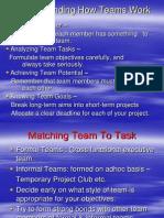 Understanding How Teams Work