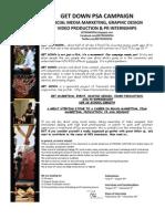 GetDown Marketing, PR, Video Production, Design Internships Fall 2012