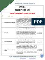 Dotnet Major Project List(Final)