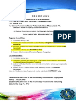 Memorandum (Membership Matters)
