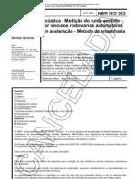 NBR 362 - Acustica - Medicao Do Ruido Emitido Por Veiculos Rodoviarios Automotores Em Aceleracao