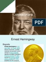 Ernest Hemingway - Conditia Umana