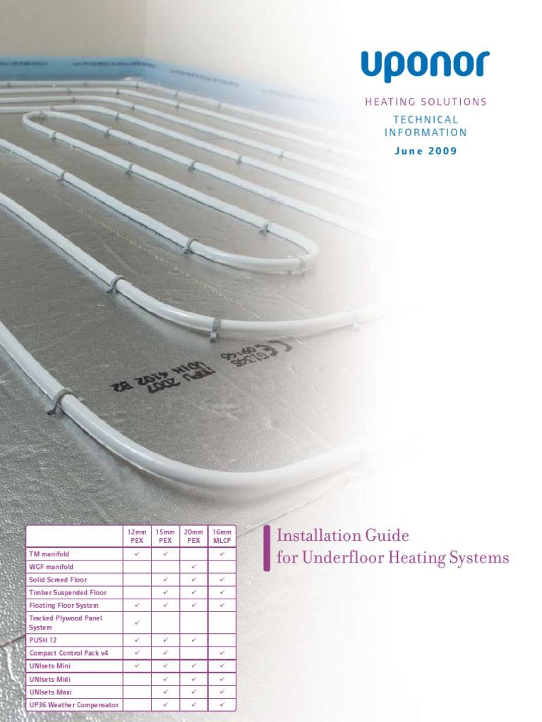 Uponor Underfloor Heating Design Guide:  Pipe (Fluid rh:scribd.com,Design