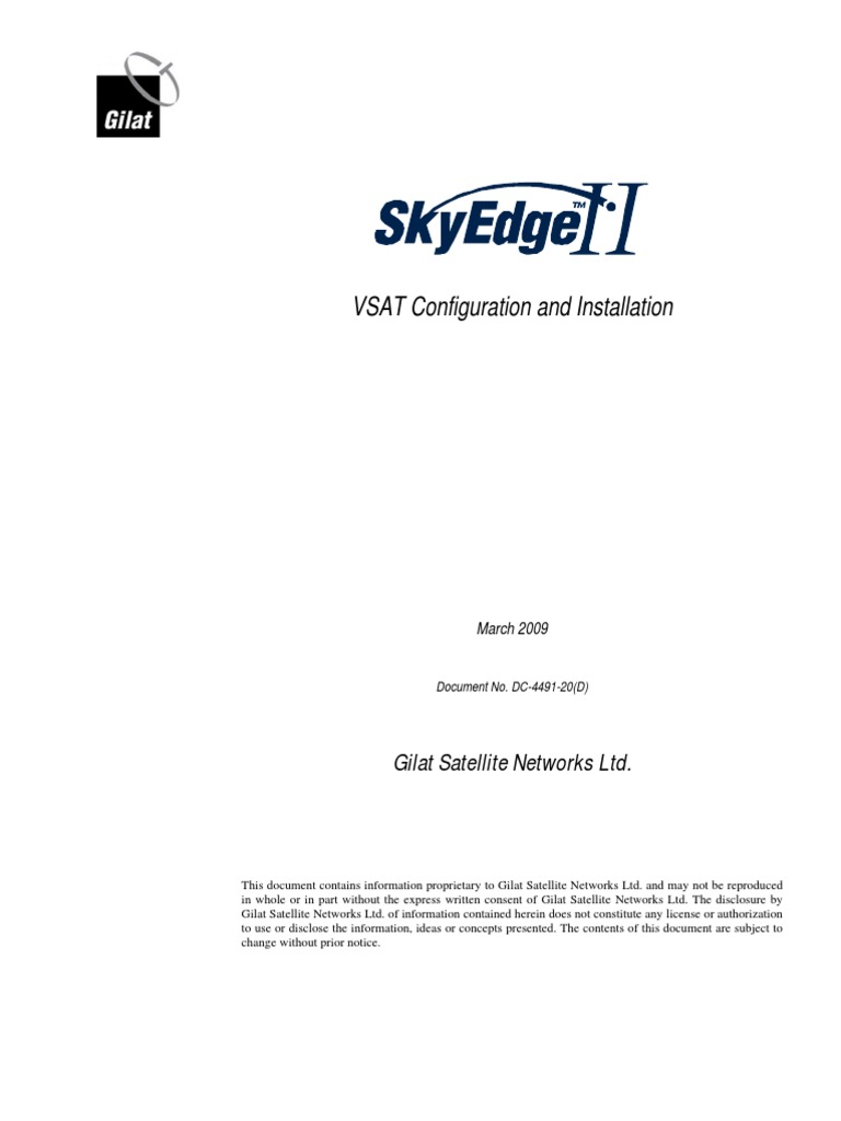 SkyEdge II VSAT Configuration and Installation_0309 | Very Small Aperture  Terminal | Web Browser