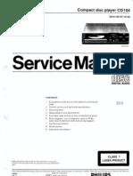 Philips Cd104 Service Manual