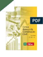 Cesta Básica da Construção Civil - ano 2011 - mês 11
