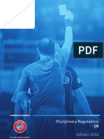 UEFA 2012 Disciplinary Code