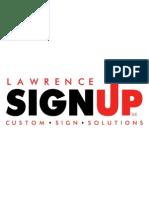 Lawrence Sign Up Logo 9-2011