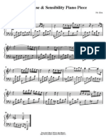 Piano Music Sheet of Sense & Sensibility(Reconciliation)
