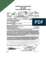 Jeffery David Larcade Affidavit