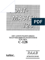 Fontmaster 128 User Manual (Deutsch)