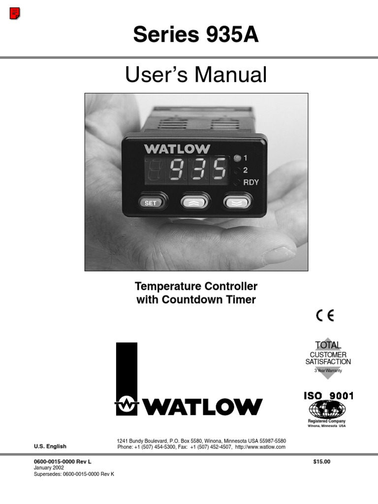 Watlow 935A | Timer | Switch on