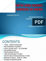 Growth and Doing Business in India