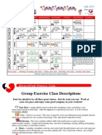 July 2012 Group Fitness Schedule