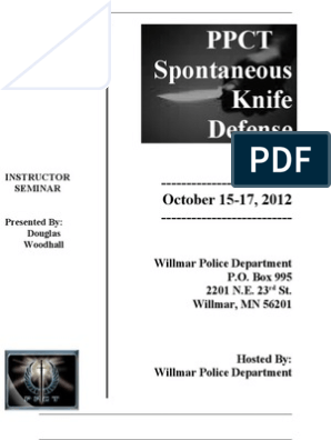 PPCT Spontaneous Knife Defense Brochure   State Police   Police