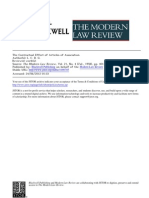 Contratual Effect of Articles of Association MLR 1958