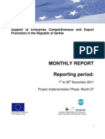 Monthly Report November 2011