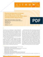 Current perspectives in humanand social science research Current Research in the UOC's Artsand Humanities Department