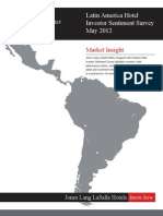 Latin America Hotel Investor Sentiment Survey May 2012
