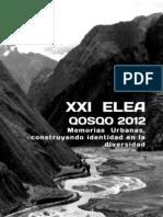 Temática XXI ELEA Qosqo 2012_general