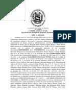 SENTENCIA DE EMBARGO EJECUTIVO DE GLOBOVISION
